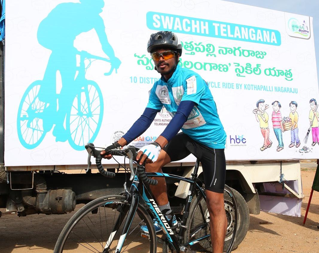 Swachh Telangana Awareness Bicycle Campaign