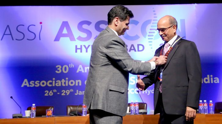 Dr Raghav​a​ Dutt Mulukutla is President of ​Association of Spine Surgeons of India (​ASSI​)​ 2017-19
